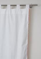 Sixth Floor - Pom pom tab top curtain
