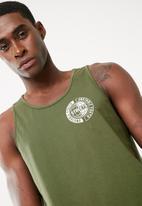 basicthread - Printed tail hem vest