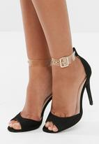 Missguided - Perspex strap shimmer barely there