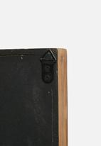 Sixth Floor - Rectangular wood wall mirror