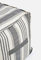 Sixth Floor - Stripe ottoman