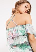 dailyfriday - Floral print flounce top