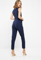 dailyfriday - Tailored jumpsuit with tie belt