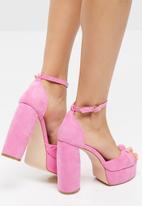 Public Desire - Backbite block heel - pink
