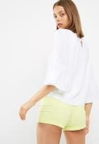 dailyfriday - Scoop neck blouse with 3/4 sleeve