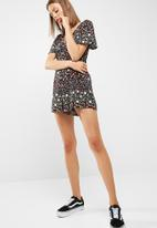 New Look - Ditsy culotte playsuit