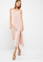 dailyfriday - Asymmetric hem slip dress