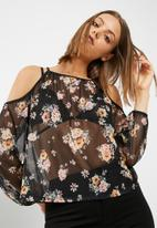 New Look - Esme printed mesh top