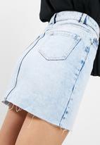 New Look - Asymetric fray hem skirt
