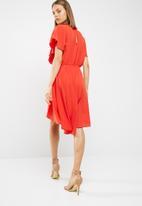 New Look - Plain dip hem frill empire dress