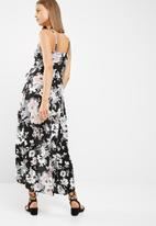 New Look - Saskia floral cami wrap maxi dress