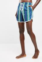 basicthread - Striped swimshort with piping