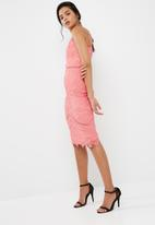 Missguided - Lace ladder detail midi dress