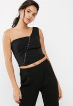Missguided - One shoulder hook and eye top