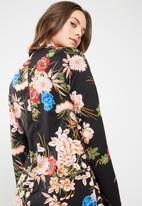 Missguided - Floral wrap over tie side mini dress