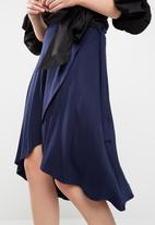 dailyfriday - Wrap front high low skirt