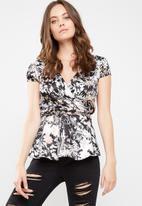 dailyfriday - Satin wrap blouse
