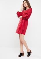 dailyfriday - Stretch poplin wrap dress