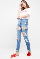 Missguided - Riot high rise ripped jeans