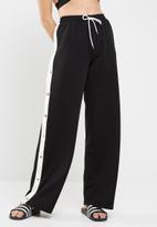 Missguided - Wide leg popper jogger trousers