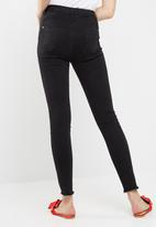 Missguided - Sinner high waisted extreme ripped skinny