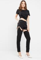 Missguided - Riot high rise chap jeans