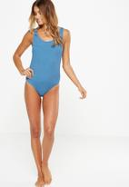 Cotton On - Crinkle thick strap cheeky one piece