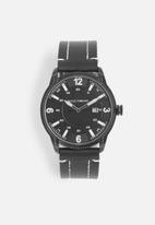 basicthread - Bryan Stitch detail leather watch