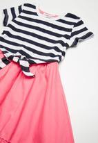 MINOTI - Mixed fabric dress