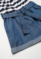 MINOTI - Mixed fabric playsuit