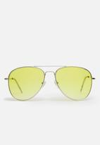 basicthread - Tinted aviator sunglasses - yellow