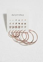 dailyfriday - Hoop and stud set