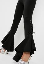 Missguided - Lace up frill trouser