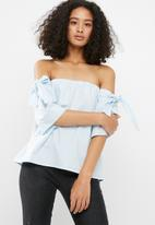 dailyfriday - Tie detail off the shoulder blouse