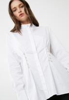 dailyfriday - Poplin shirt with pearl buttons