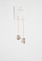 dailyfriday - Mismatched earrings- rose gold