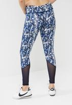 South Beach  - Marble print mesh detail leggings