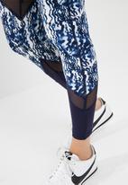 South Beach  - Marble print colour block leggings