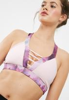 South Beach  - Cutout strappy sports bra