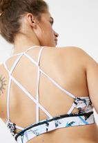 South Beach  - Shard strappy back crop top