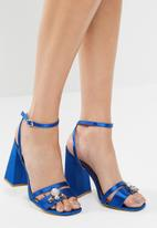 Public Desire - Harrow gem detail block heel