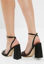 Public Desire - Harrow gem detail block heel