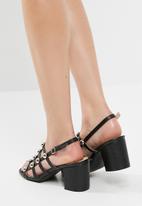 Public Desire - Weekend chrome studded heeled sandal