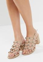 Public Desire - Weekend chrome studded heeled sandal