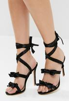 Public Desire - Bedlam bow detail wrap around heel