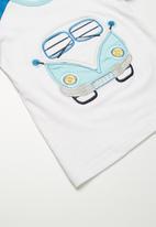 Babaluno - Hippy bus t-shirt and shorts set