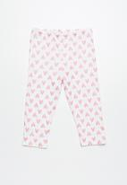 dailyfriday - Capri leggings - white & pink