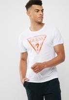 GUESS - Basic liner logo crew tee