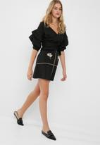 dailyfriday - Embroidered mini skirt