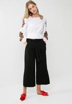 dailyfriday - Black culotte pant